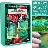 Garden Barrier Netting, Plant Covers 8x24ft Extra Fine Mesh 30% Sun Net Green Sunblock Mesh Shade Protection Netting for…
