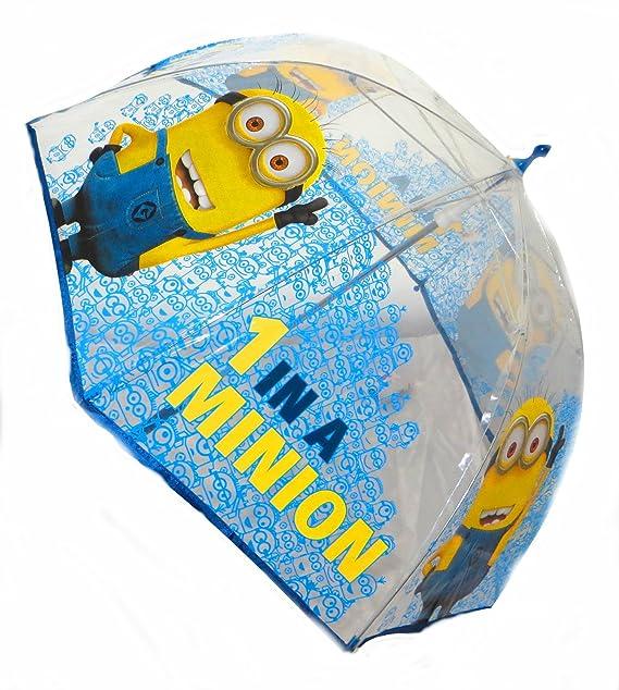Paraguas Minions Gru burbuja manual 45cm