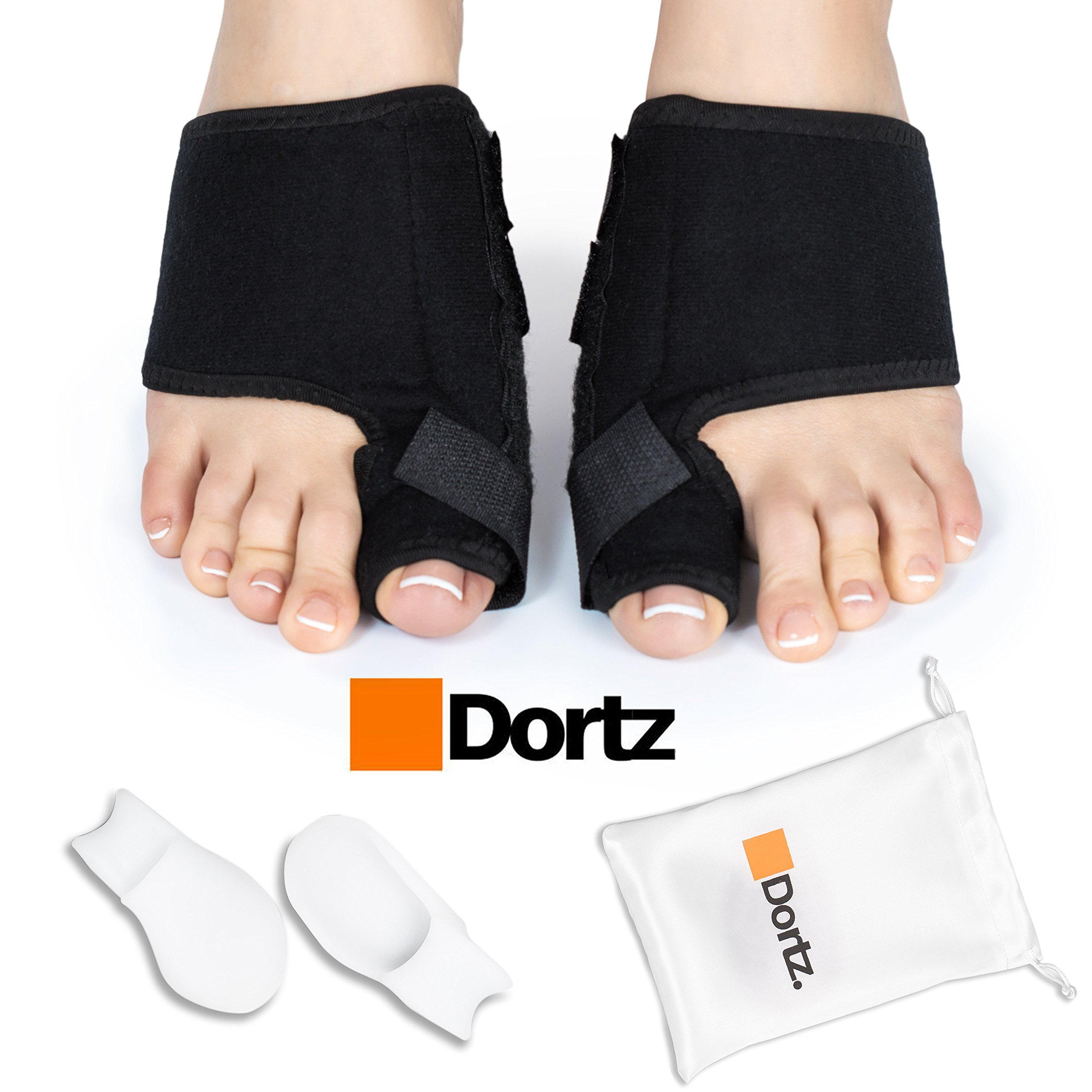 Dortz Orthopedic Bunion Corrector - Bunion Splint for Bunion Relief - Bunion Protector - Bunion Pads Bunion Bootie - Bunion Corrector for Women and Men