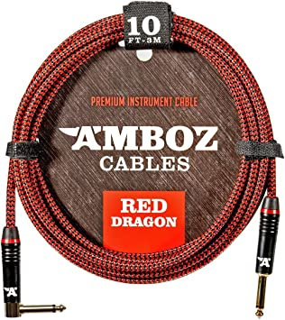 Amazon.com: Amboz Red Dragon - Cable para guitarra (10.0 ft ...
