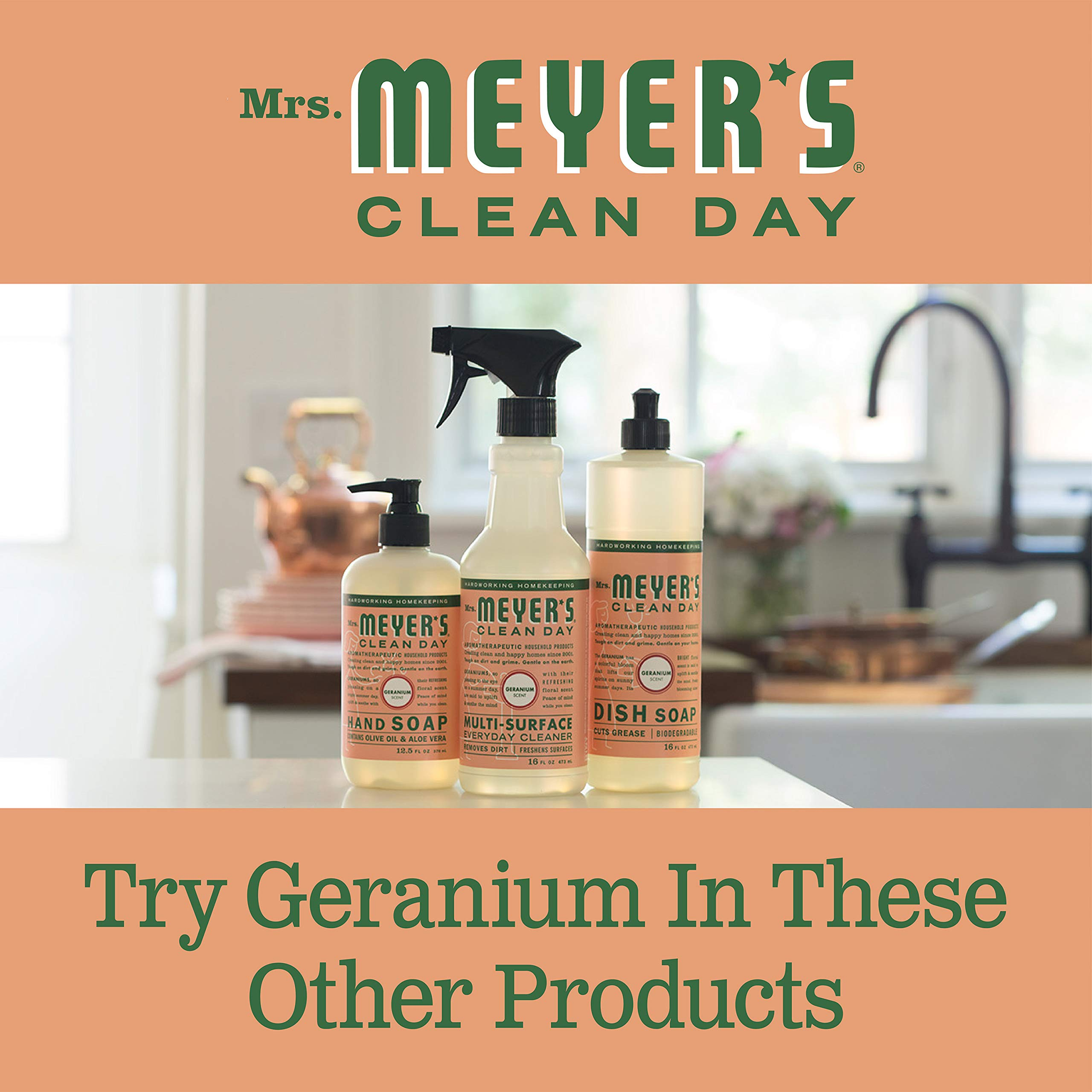 Mrs. Meyer's Clean Day Multi-Surface Concentrate, Geranium, 32 fl oz, 2 ct by Mrs. Meyer's Clean Day (Image #8)