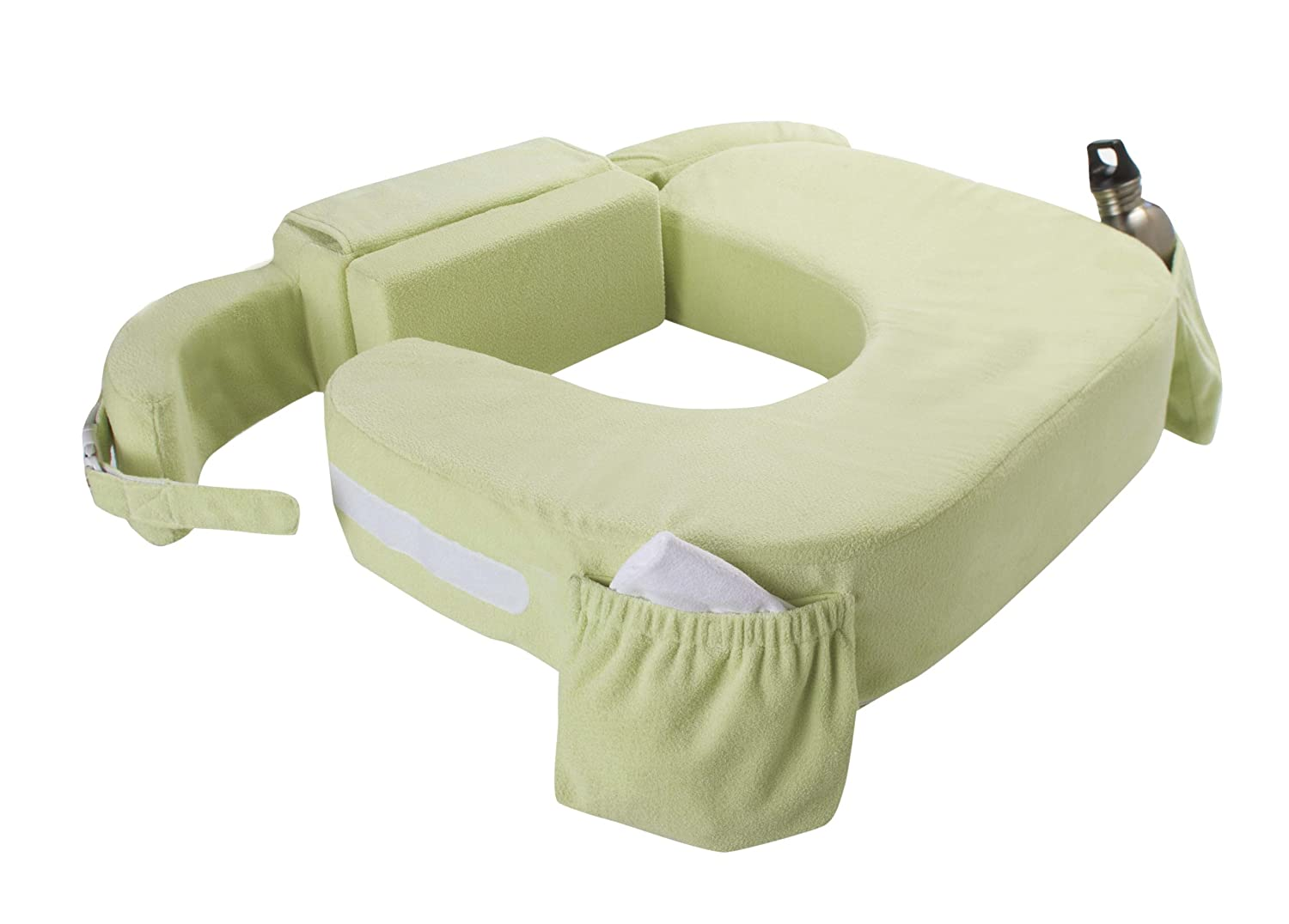 My Brest Friend Twin Nursing Pillow Deluxe Slipcover – Machine Washable Breastfeeding Cushion Cover - pillow not included, Green 610