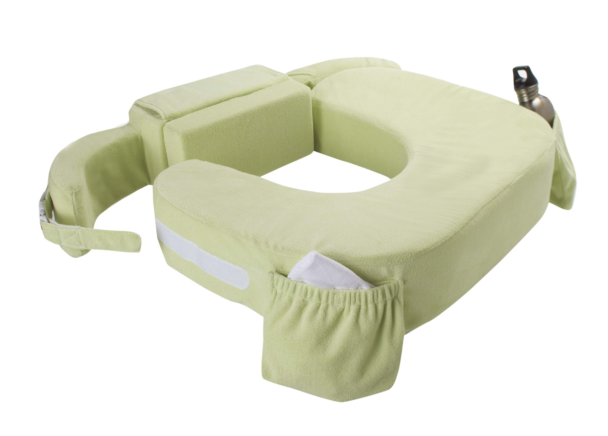 My Brest Friend Twin Nursing Pillow Deluxe Slipcover - Machine Washable Breastfeeding Cushion Cover - Pillow not Included, Green by My Brest Friend