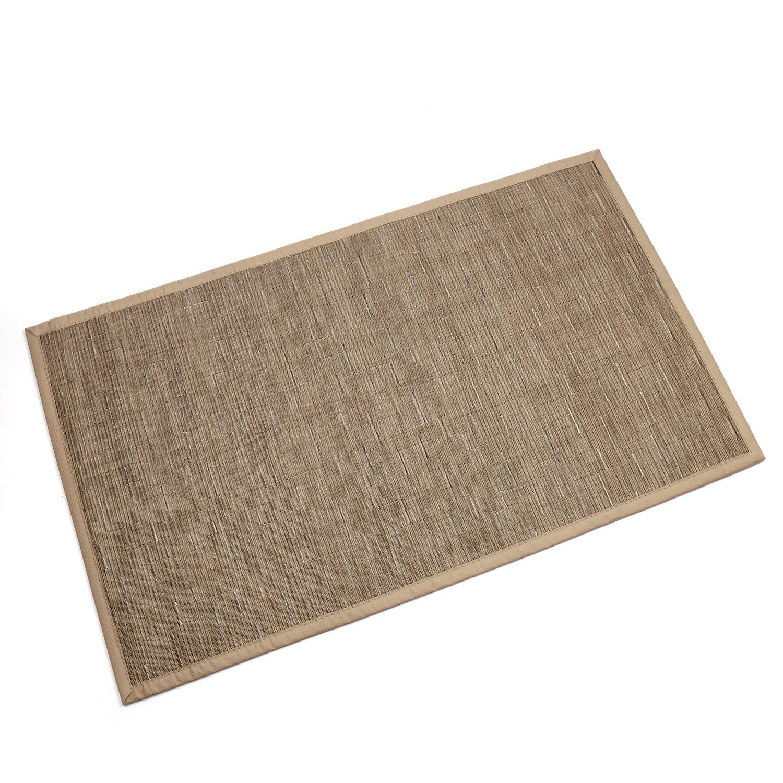 Topotdor Indoor and Outdoor Door Mat Rug Rectangular Non-Slip 18-Inch By 30-Inch Beige,gold
