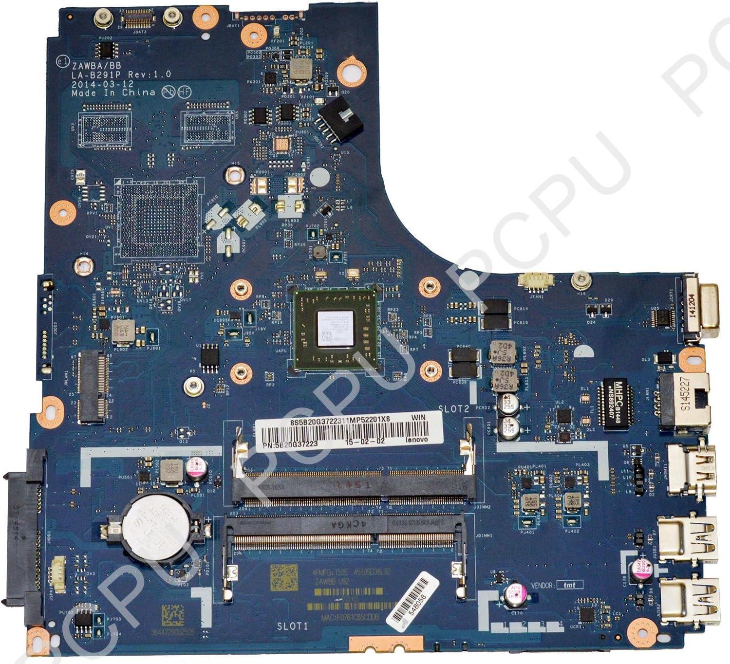 Lenovo 5B20G37223 Ideapad B50-45 Laptop Motherboard w/AMD E1-6010 1.35Ghz CPU