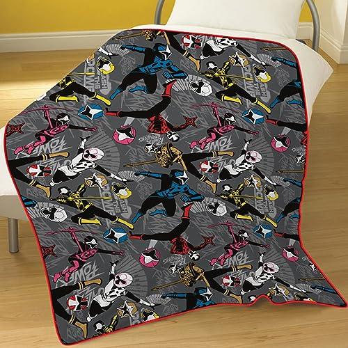 Power Rangers Ninja Steel Fleece Blanket, Polyester, Multi, Full