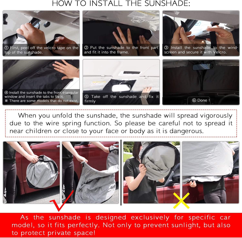 CDEFG para Stonic Parasol Coche Delantero Parasol Coche Parabrisas Protector Plegable con Gran Pantalla Anti UV Rayos Mejor Contral de Calor Multiuso Fresco-Parasol Accesorios