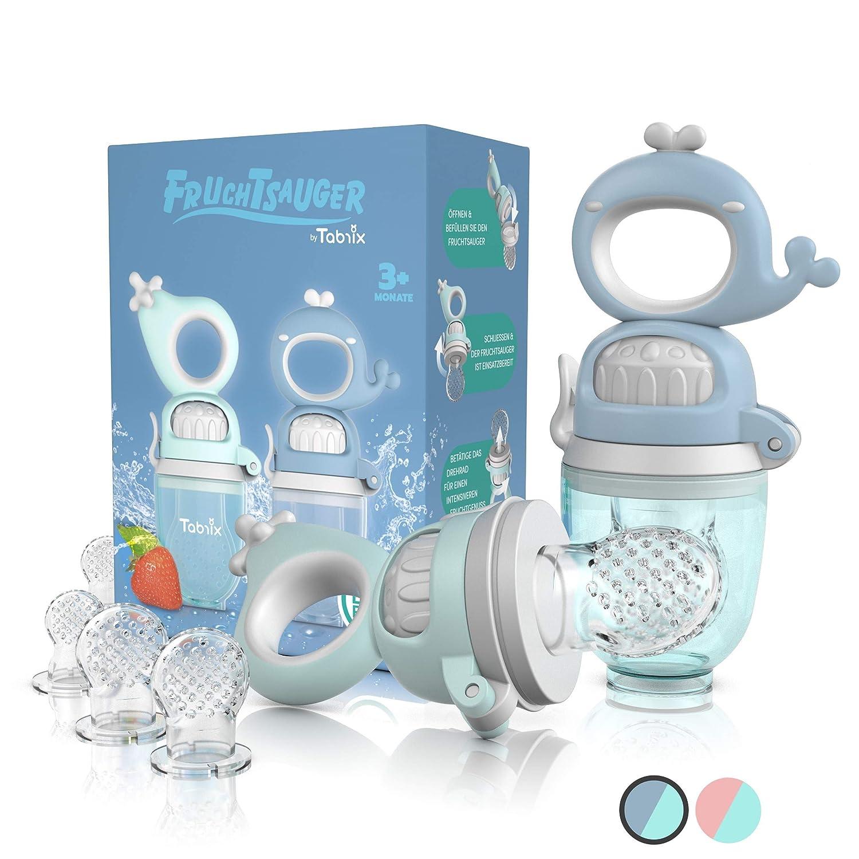 1 Baby-Zahnb/ürste 6 Silikon-Sauger in 3 Gr/ö/ßen 2 Fruchtsauger Baby BPA-frei Schnuller Bei/ßring f/ür Obst Gem/üse Brei Beikost