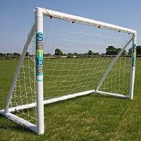 Samba Fußballtor 2,4 x 1,8m / 2,4 x 1,2m / 1,8 x 1,2m · Wetterfestes Fussballtor für Kinder Plus gratis Zielscheibe · neuartiges Einrastsystem · 1 Fussballtor Garten