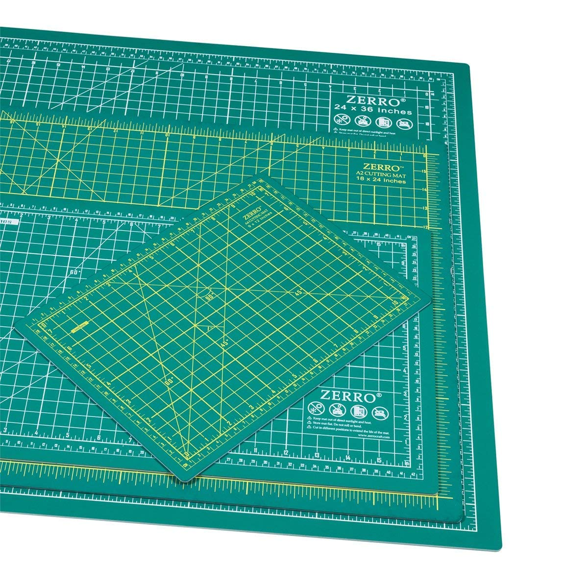 "ZERRO Self Healing Cutting Mat 24"" x 36"",Professional Double Sided Durable Non-Slip Rotary Mat for Scrapbooking, Quilting, Sewing-3mm Thick (A1)"