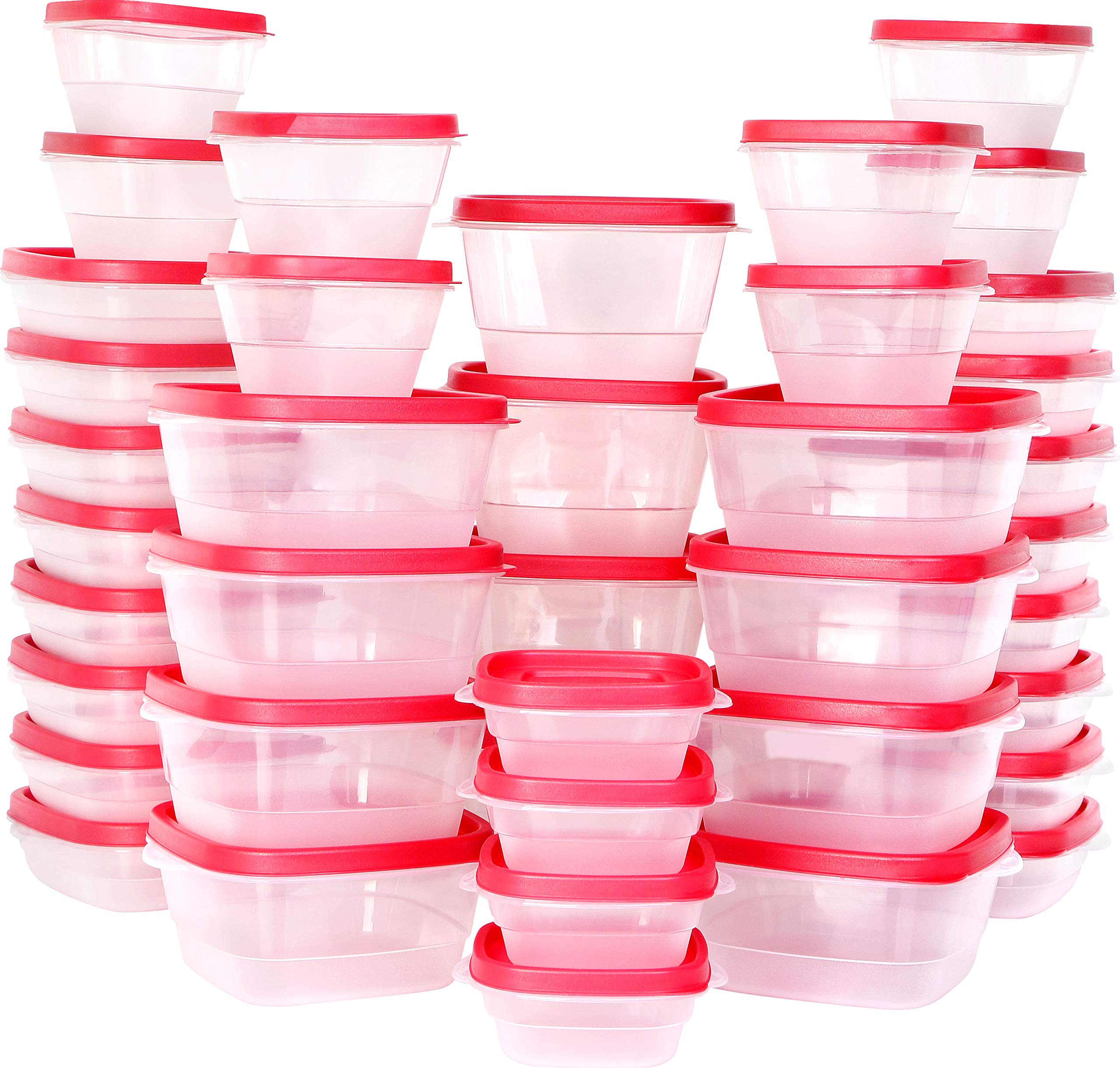 Utopia Kitchen Plastic Food Storage Containers with Lids [40 Pack]