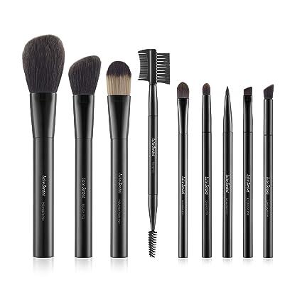 LureSenses Makeup Brush Essential Set, Black (9 Piece): Amazon.in: Beauty