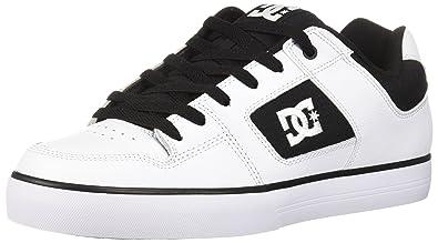 DC Mens Pure Skate Shoe WhiteBlackWhite