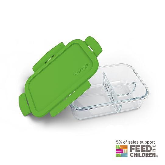 bentgo glass green u2013 leakproof ovensafe