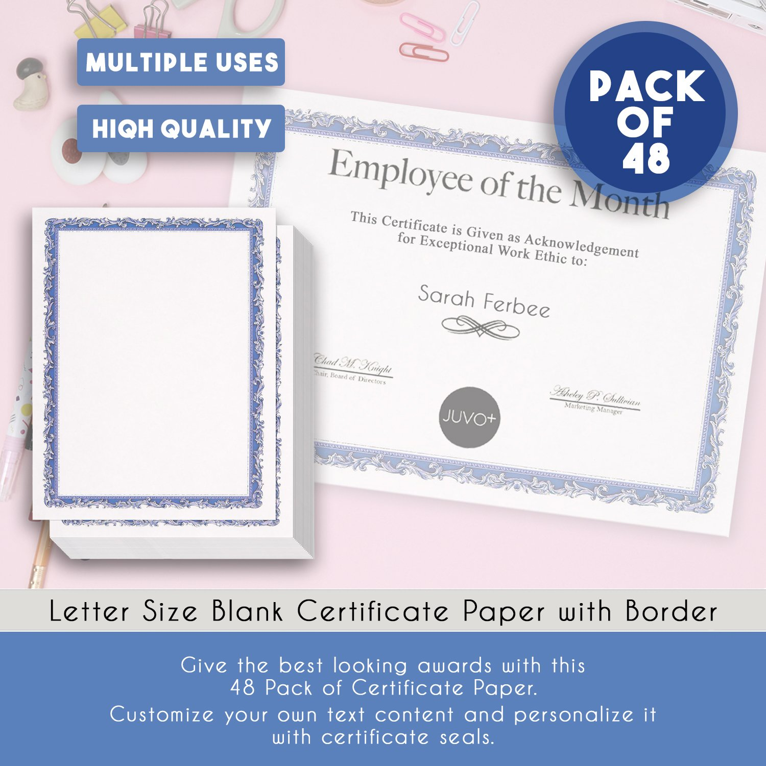 certificate papers 96 pack blank award certificates paper diploma