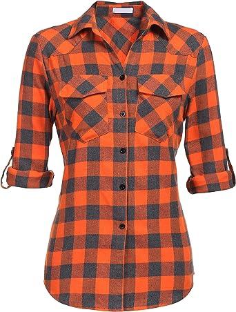 Unibelle - Blusa de manga larga para mujer, casual, de ...