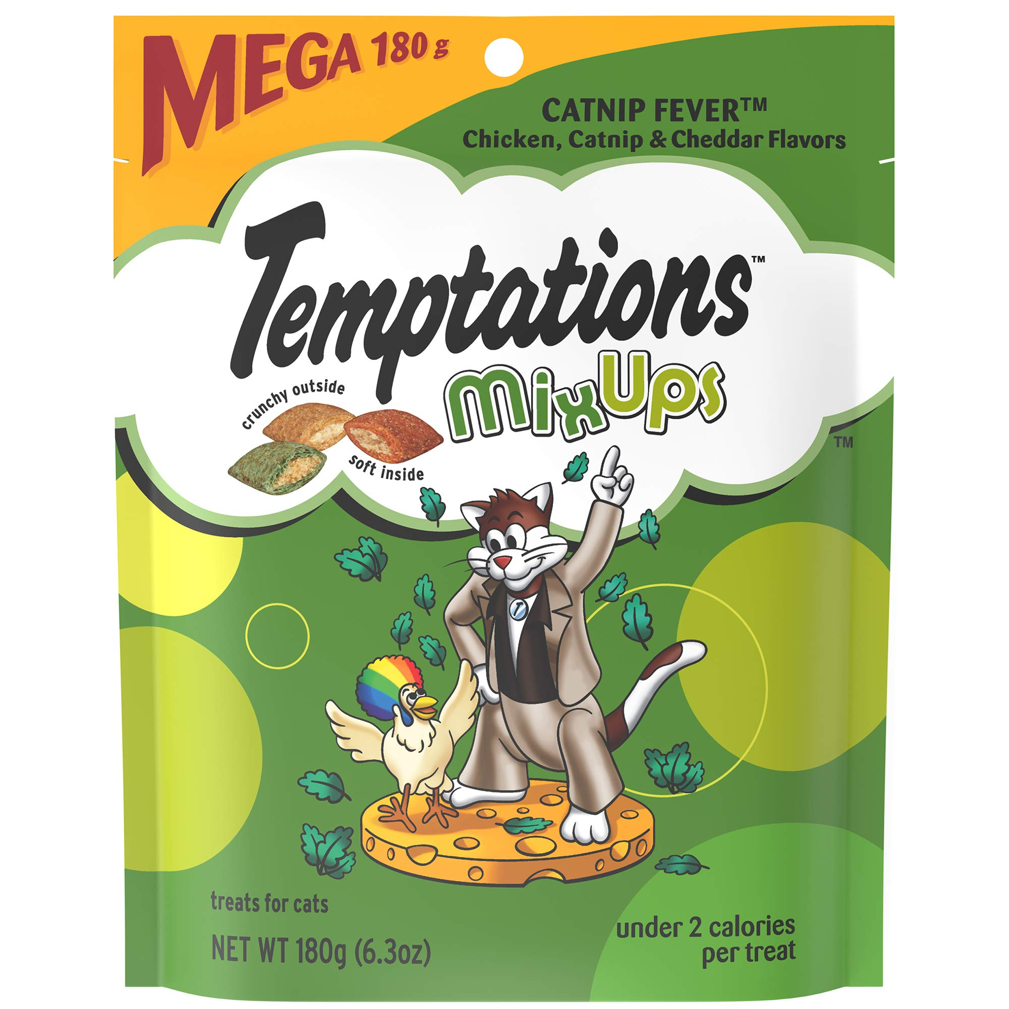 Temptations Mixups Cat Treats Catnip Fever Flavor, (10) 6.3 Oz. Pouches by Temptations