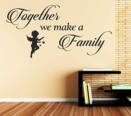 Together We Make a Family Vinyl Wall Art Quote Sticker Family ...