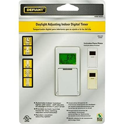 defiant 20 amp 7 day 7 event in wall digital timer amazon com