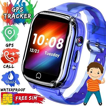 Amazon.com: Reloj inteligente para niños con GPS, con ...
