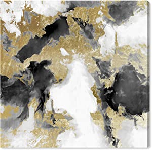 Wynwood Studio Abstract Wall Art Canvas Prints 'Explosive Shade White Home Décor, 12