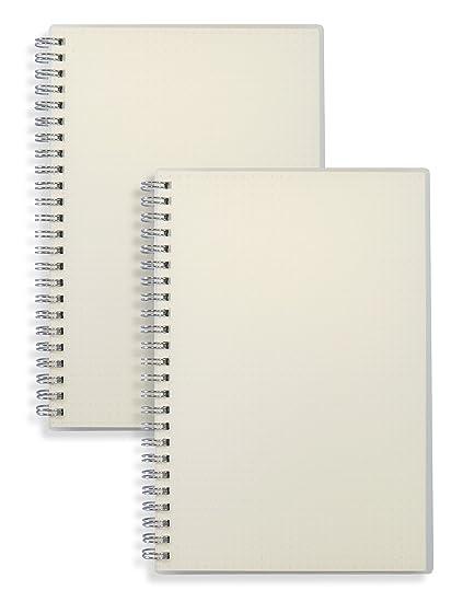 amazon com miliko transparent hardcover a5 size dot grid wirebound