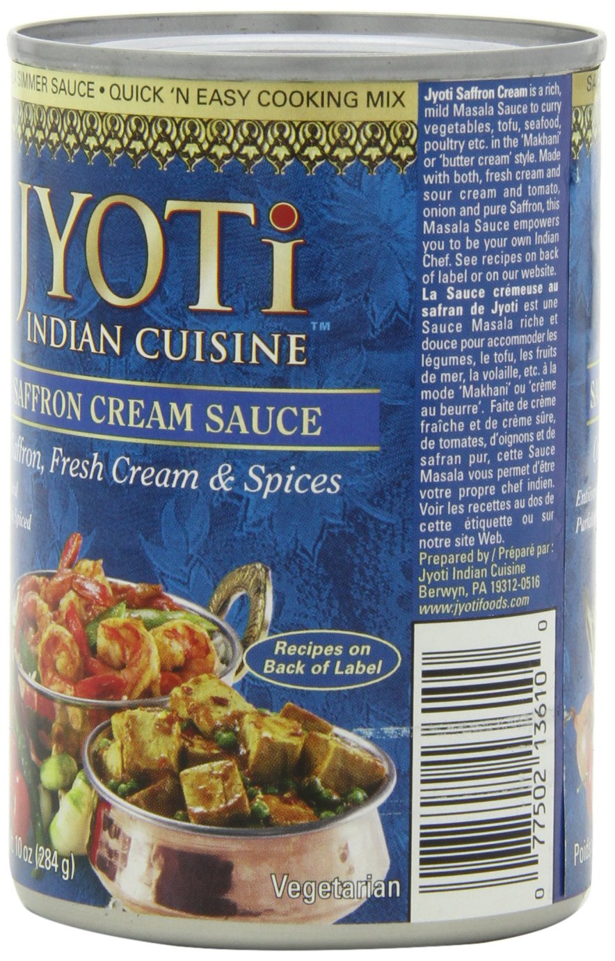 Jyoti Natural Foods Saffron Cream Sauce, 10-Ounce Cans (Pack of 12)