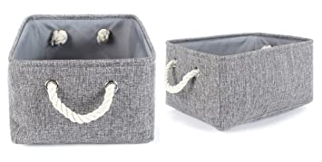 Grey Fabric Storage Bins