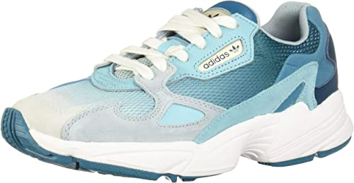 adidas Originals Falcon W Blue Tint/Light Aqua Leather 7 US Womens