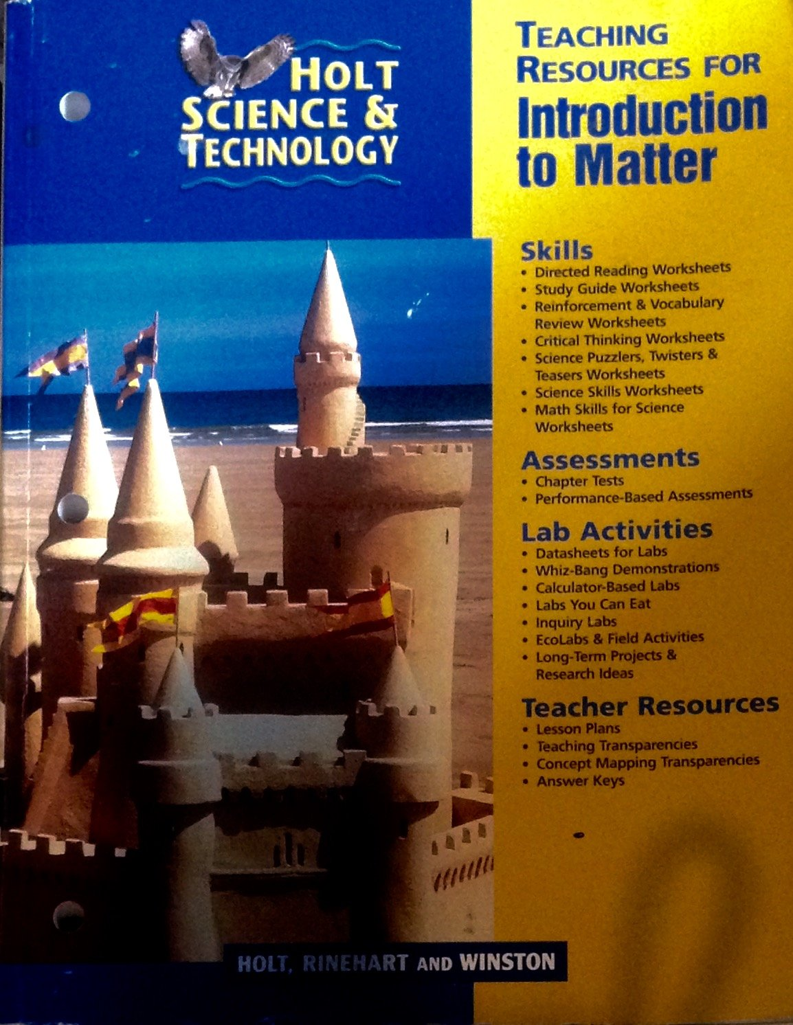 Teaching Resources for Introduction to Matter (Holt Science & Technology):  Rinehart and Winston Holt: 9780030649592: Amazon.com: Books