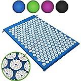 Belmalia Tapis d'acupression, tapis de massage, tapis fakir, tapis de détente, tapis yantra Bleu
