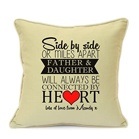 personalised beige cushion cover gift for dad birthday fathers day