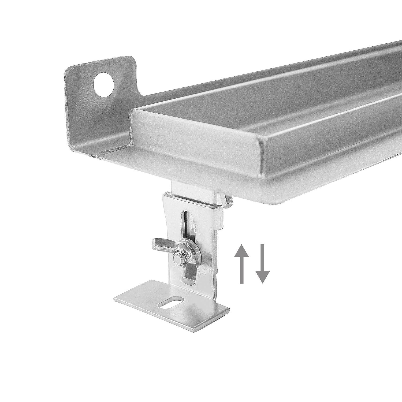 Elbe Caniveau de douche en acier inoxydable Rigole de douche 90 cm Mod/èle en en verre blanc/_RN-K090F