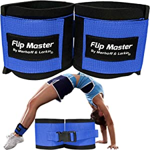 Flip Master Ankle Straps Tumbling Trainer   Gymnastics & Cheerleading Equipment for Back Flip/Tuck & Handspring Form   Adjustable Band for Girls, Boys & Adults   for Cheer, Dance & Gymnastic Practice