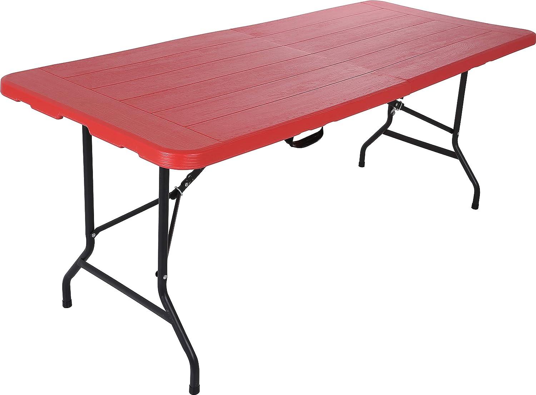 Relyplast Steel Frame Rectangular Fold In Half Plastic Folding Table 6ft X 30 Inch Furniture Decor