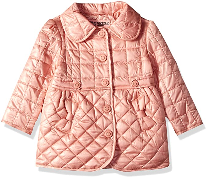 cda2927f Urban Republic Toddler Girls Poly Quilted Thinfill Jacket, Rose Smoke, 2T