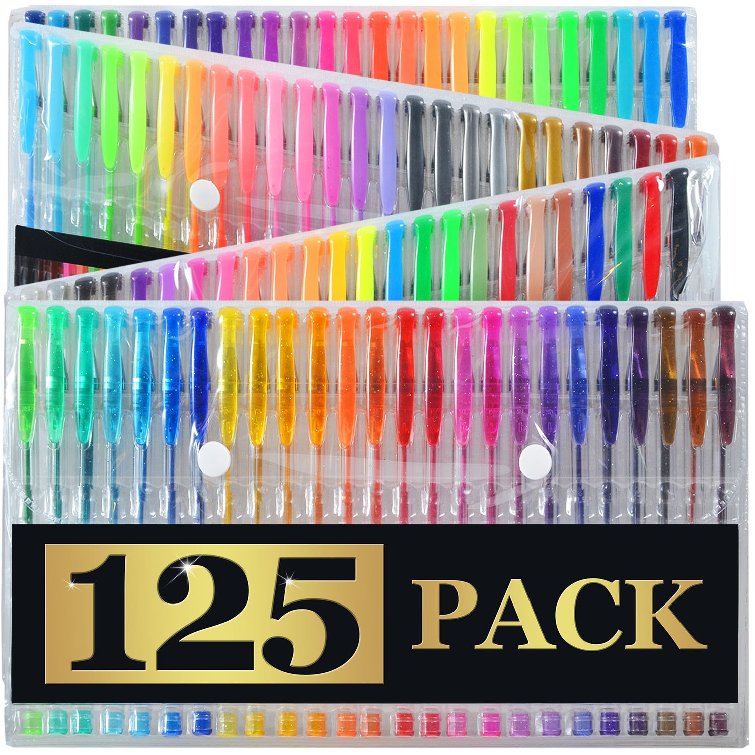 Amazon.com : Artist\'s Choice Gel Pens Set with Case Pack of 125 ...
