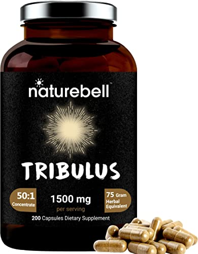 Tribulus Terrestris for Men and Women, Made with Organic Tribulus Supplements , 1500mg Per Serving, 200 Capsules, Supports Stamina, Energy and Immune System, Premium Tribulus Pills, Non-GMO