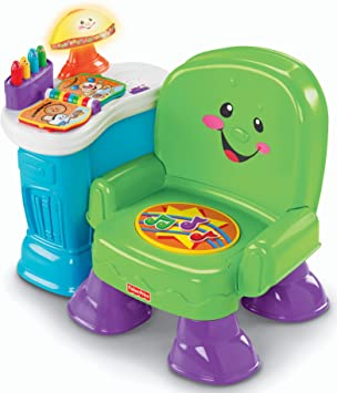 Green Fisher-Price Laugh /& Learn Musical Learning Chair