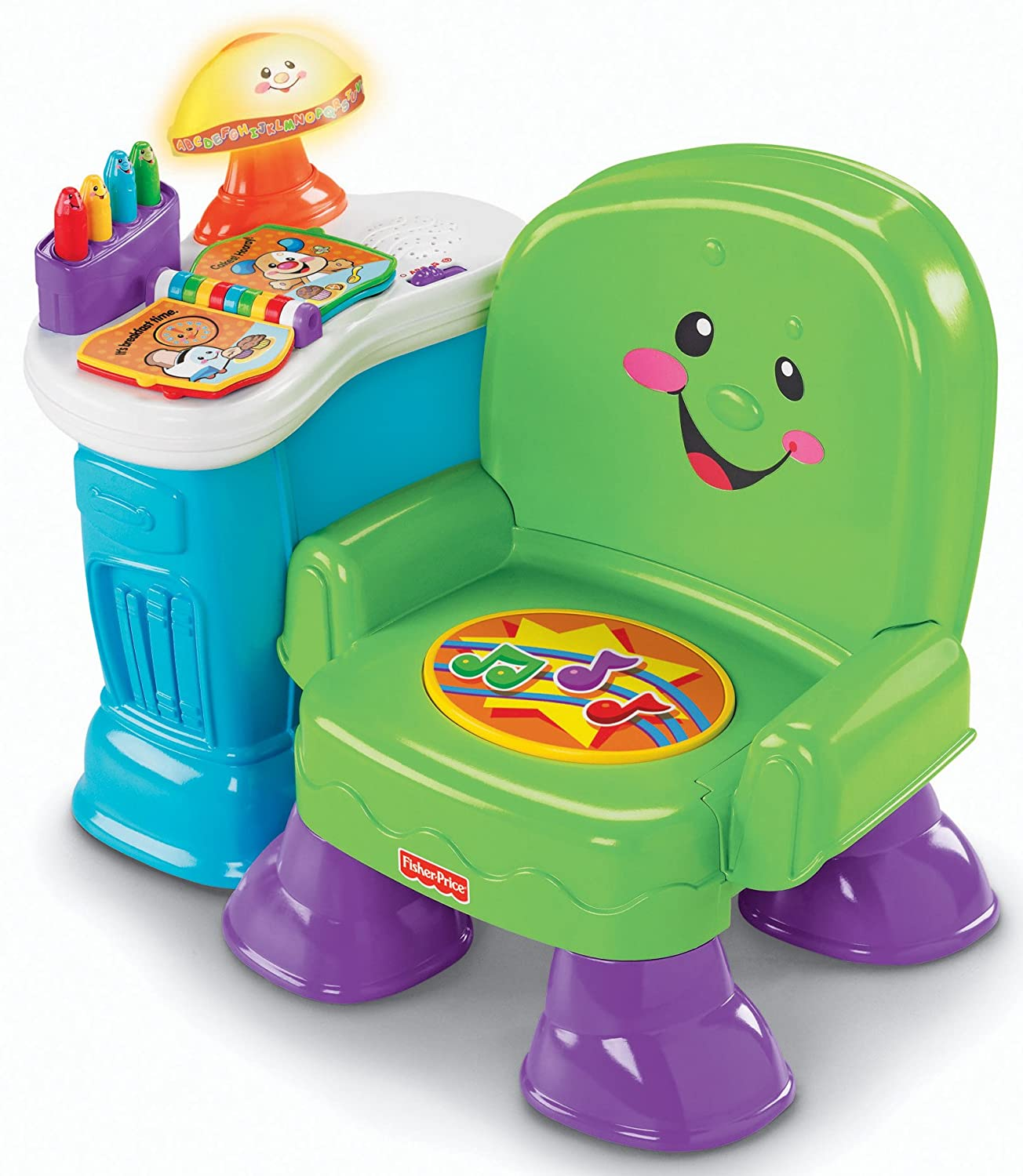 Fisher Price Laugh & Learn Musical Learning Chair Green Amazon