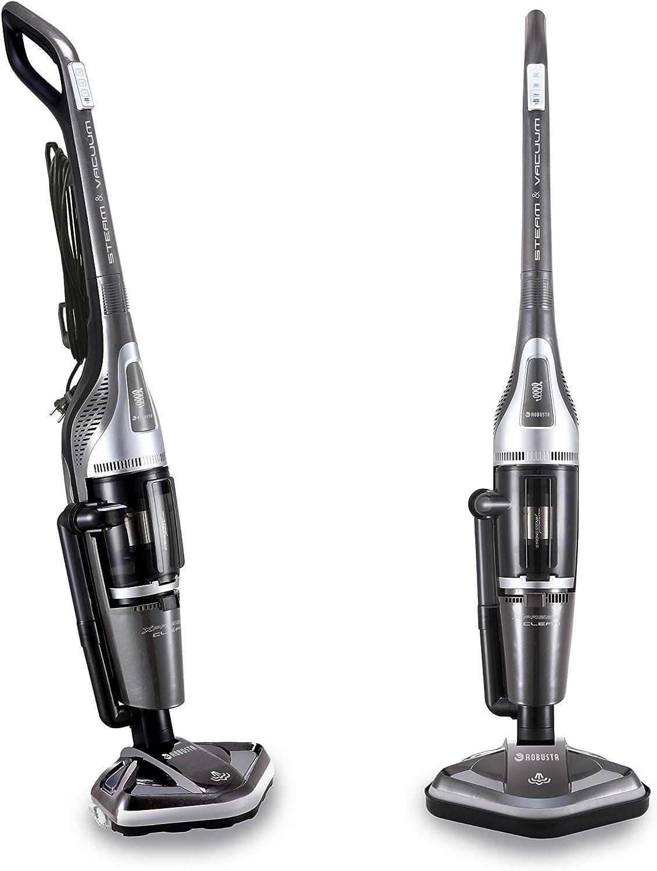 Robusta aspirador escoba sin bolsa y limpiador de vapor Xpress Clean 2 en 1 gris: Amazon.es: Hogar