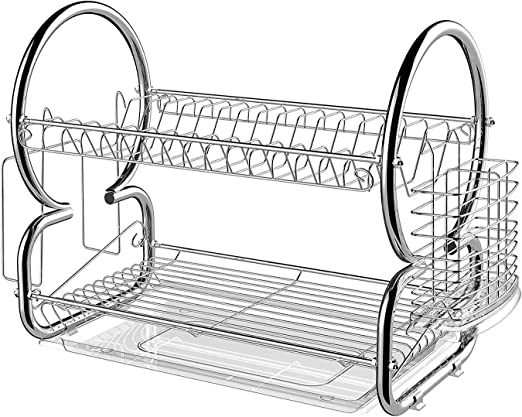 Sink Drainer Strainer New Design Plastic Hard Level Kitchen White Grey Easy Nice