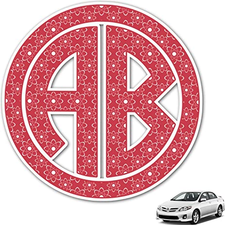 Amazoncom Atomic Orbit Monogram Car Decal Personalized Automotive - Monogram car decal amazon