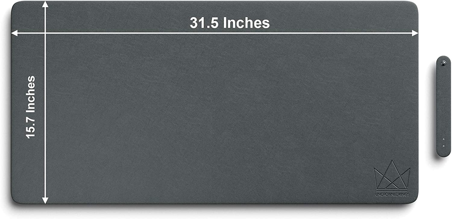 Uncrowned Kings Desk Pad 35.4 X 17.7 Inches Premium Home Office Desk Mat for