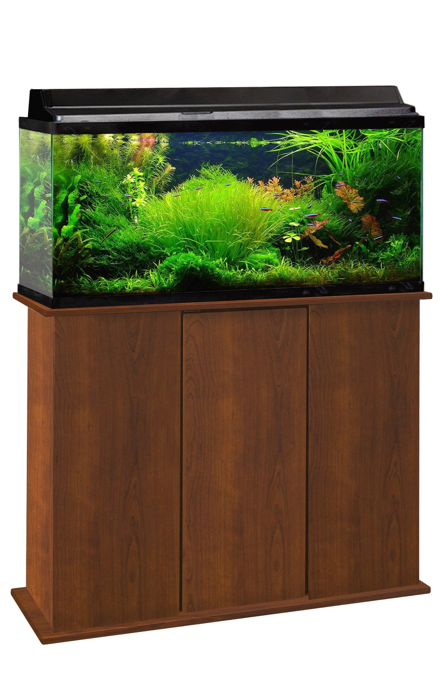 Aquatic Fundamentals 36301-68-AMZ 30/38/48 Gallon Upright Aquarium Stand, Serene Cherry
