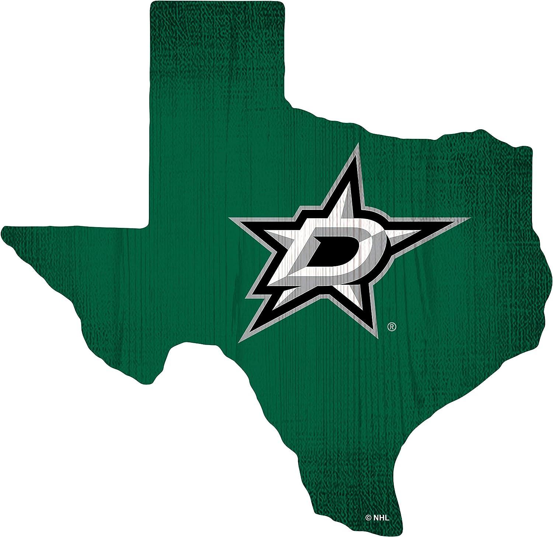 Fan Creations NHL Dallas Stars Unisex Dallas Stars Team Color Logo State Sign, Team Color, One Size