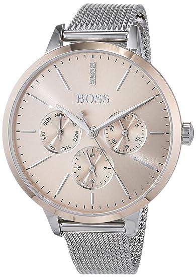 Hugo BOSS Reloj Multiesfera para Mujer de Cuarzo con Correa en Acero Inoxidable 1502423: Amazon.es: Relojes
