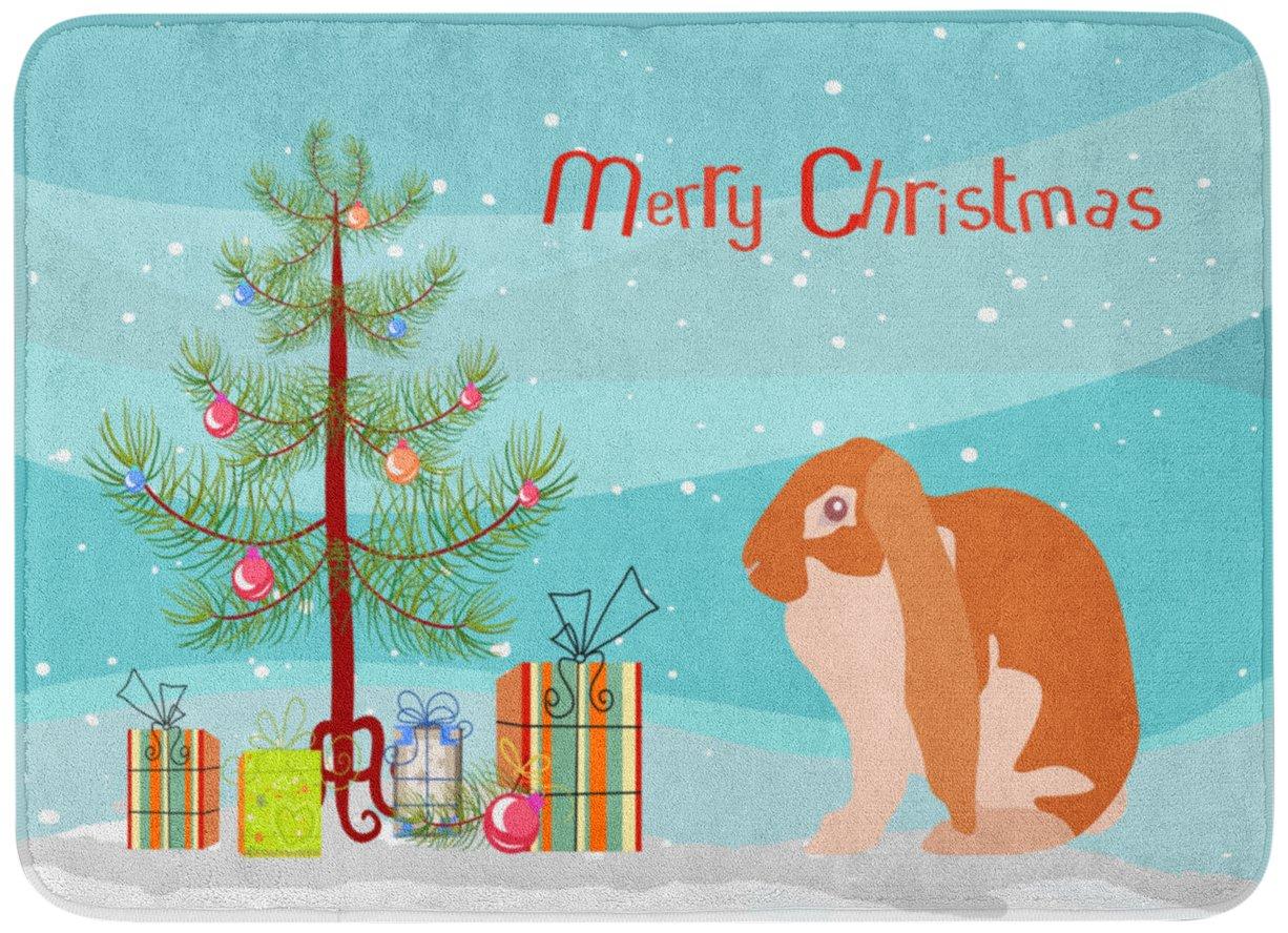 Carolines TreasuresEnglish Lop Rabbit Christmas Floor Mat 19 x 27 Multicolor
