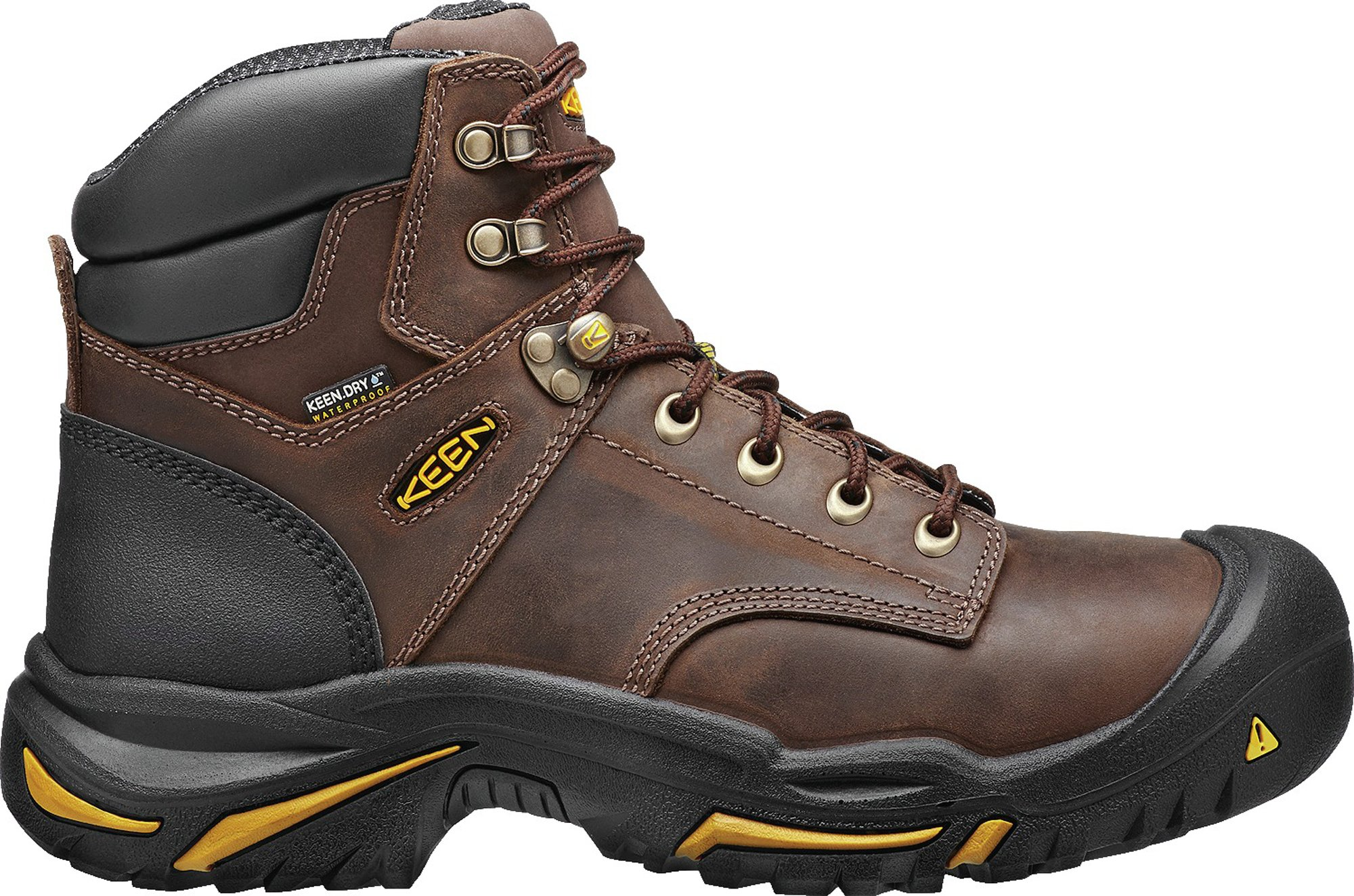 KEEN Utility MT Vernon 6'' Waterproof (Steel Toe), Men's Work Boot, Cascade Brown, 15 EE by KEEN Utility (Image #1)