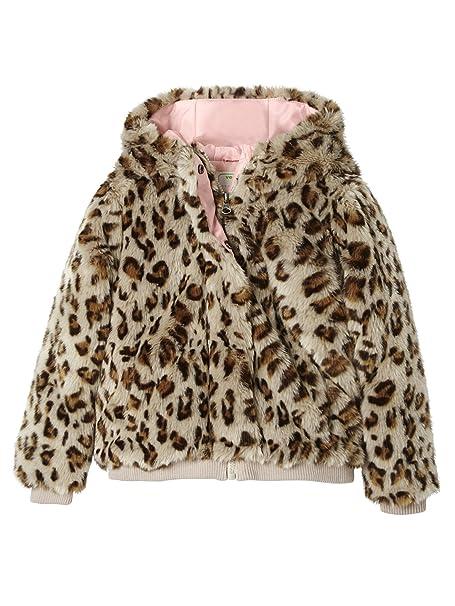 VERTBAUDET Abrigo niña pelo sintético leopardo Beige Estampado Leopardo 12A: Amazon.es: Ropa y accesorios
